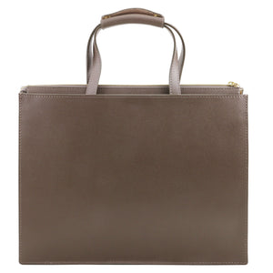 Palermo Saffiano Leather Briefcase 3 Compartments For Women