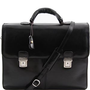Bolgheri Two Compartment Leather Briefcase