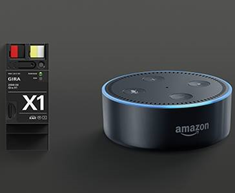 alexa amazon spot connecting to the Gira X1 home server to allow KNX Ireland to help you control your Smart Home