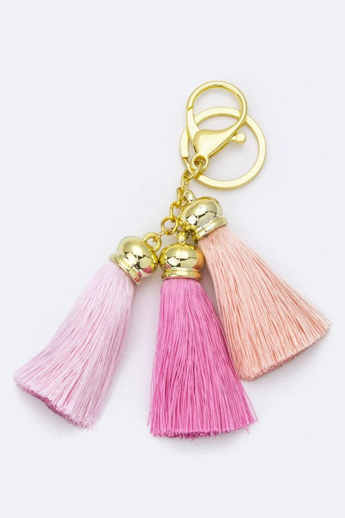 Light Pink Fun Tassel Keychain