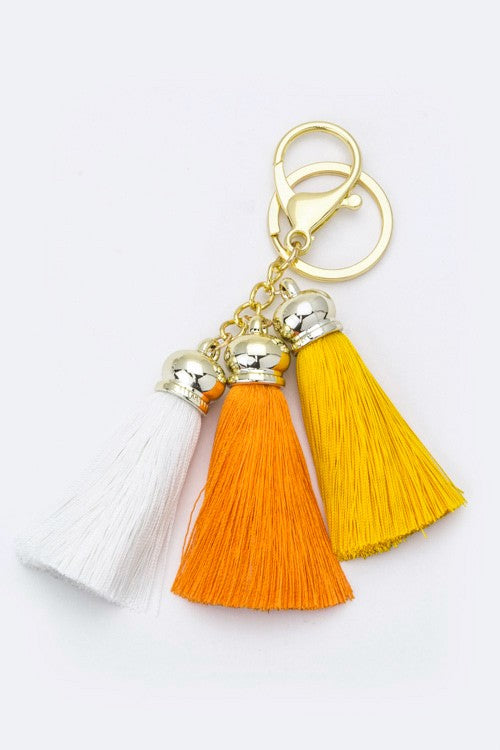 Orange Fun Tassel Keychain