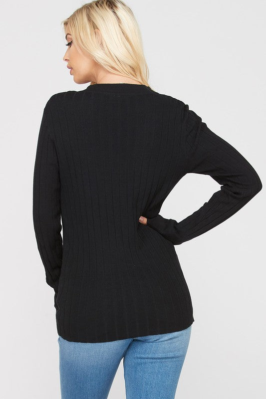 Ribbed Button Up Sweater