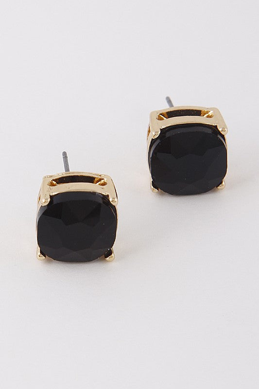 JEWEL EARRINGS IN BLACK