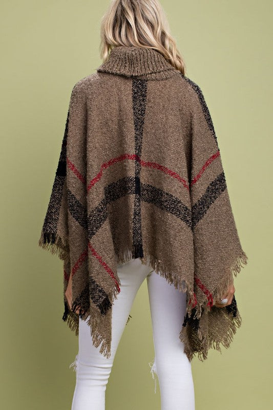 Cowl Neck Cape Pocho