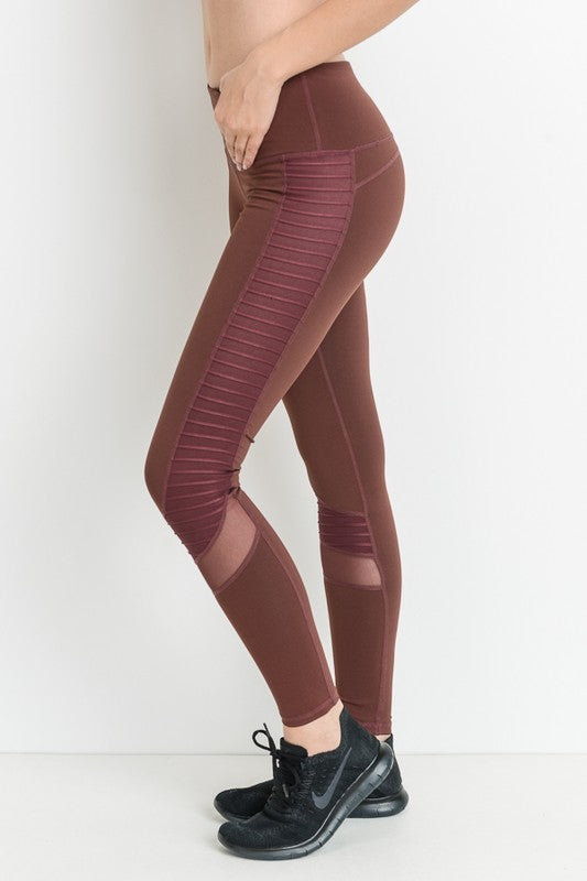 Maroon Dry Fit Leggings