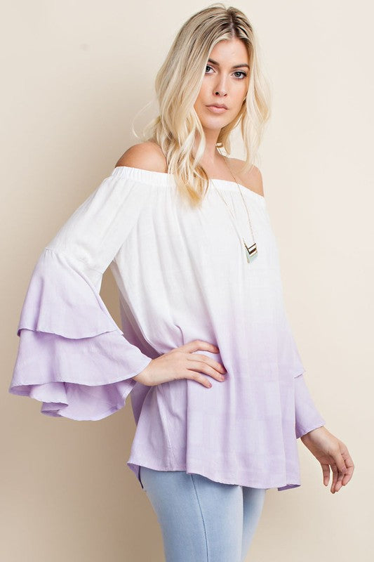 Purple Delight Off The Shoulder Blouse