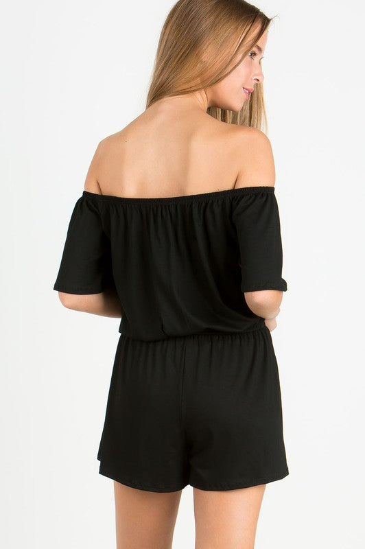 The Simply Black Romper