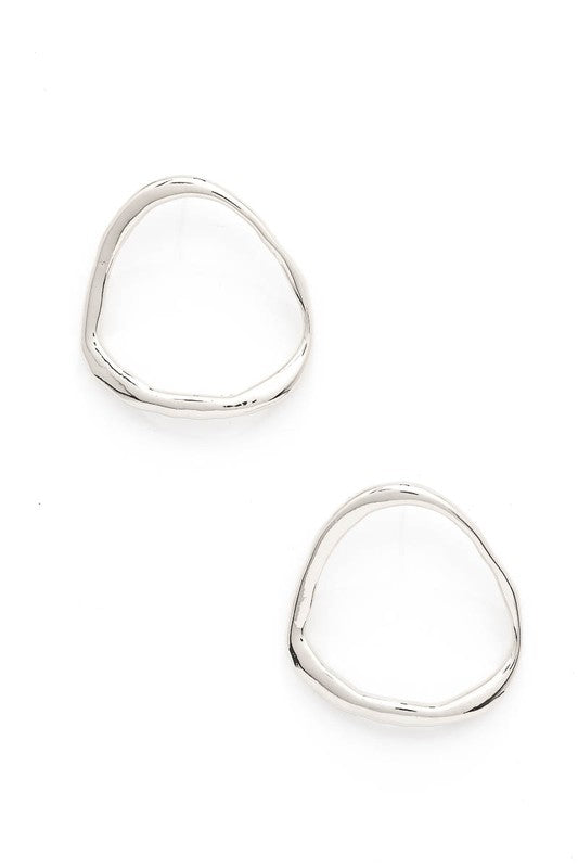 Irregular Hammered Hoop Earrings