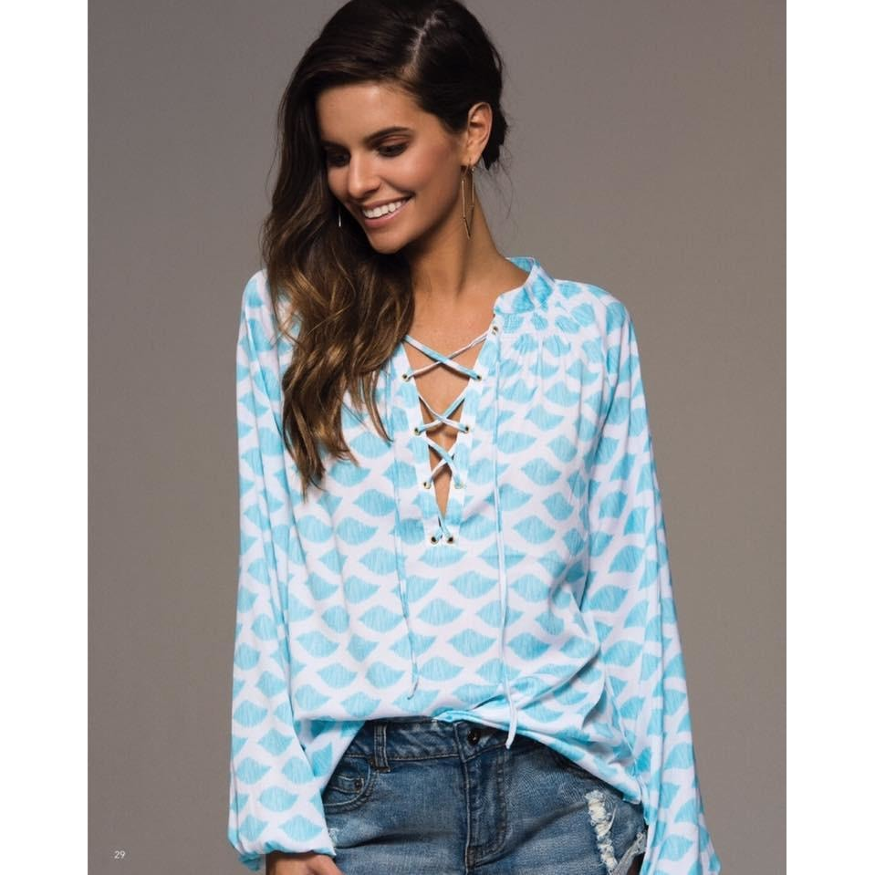 The MacBeth Tassel Front Blouse