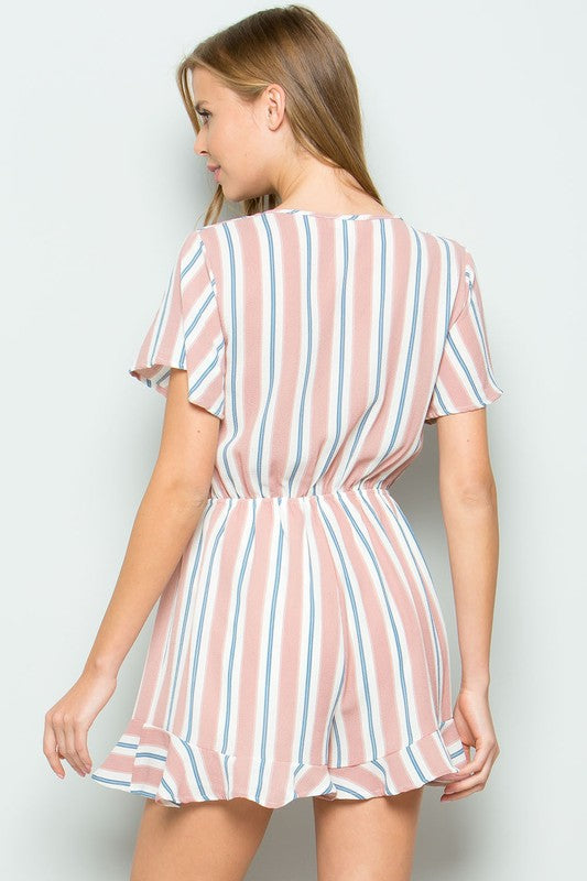 Blast In Stripes Romper