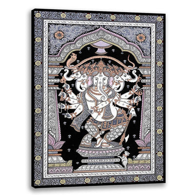 Panchimukhi Ganesha - Pattachitra Art