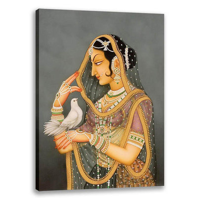 Lady with Pigeon - Bani Thani