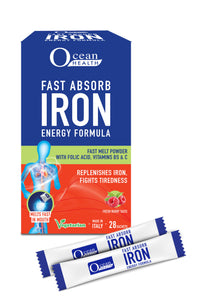 """OCEAN HEALTH"" FAST ABSORB IRON ENERGY FORMULA 28 SACHETS"