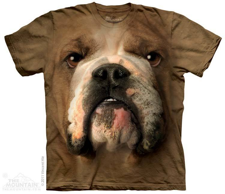 Bulldog Face T Shirt