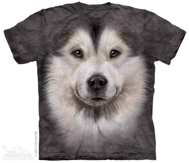 Big Face Alaskan Malamute T Shirt