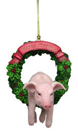 Pig Christmas Ornament