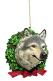 Wolf Bust Christmas Ornament