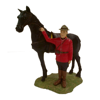 RCMP Officer Standing with Horse
