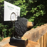 Black Bear Picture /Memo /Business Card Holder