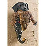 Black Lab with Grouse Coat Hanger