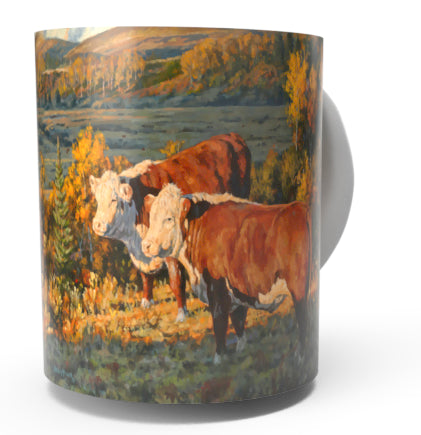 CATTLE COUNTRY-HEREFORD COW COFFEE MUG-Art by Bruce Miller