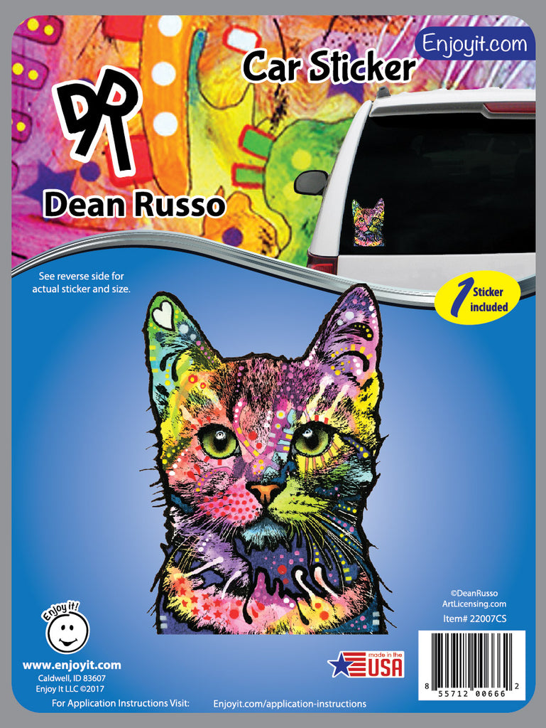 Cat Car Decal by Dean Russo