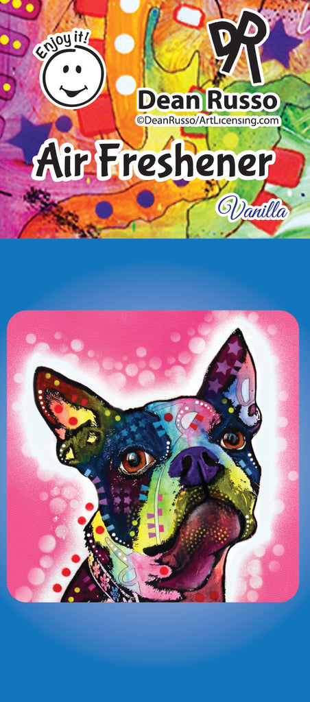 Boston Terrier Air Freshener by Dean Russo