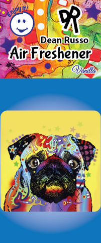 PUG Air Freshener by Dean Russo