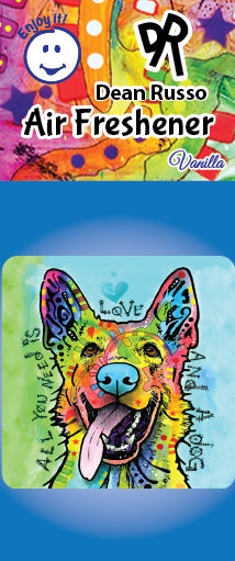 German Shepherd Air Freshener by Dean Russo