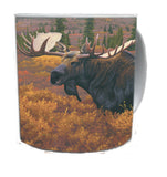 DENALI AUTUMN-MOOSE COFFEE MUG-Art by Derek Wicks