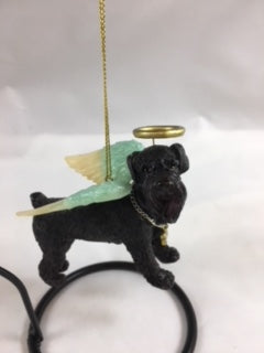 Black Schnauzer Angel Dog
