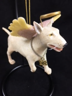 Bull Terrier Angel Dog Ornament