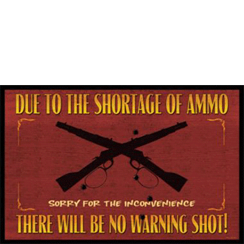 Welcome Mat Ammo Shortage