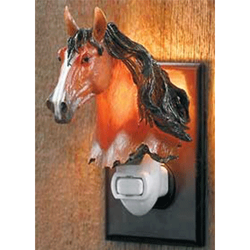 bay horse night light