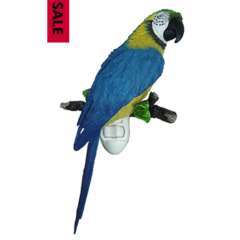 Blue & Gold Parrot Night Light