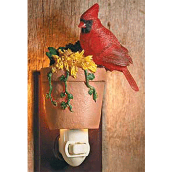 Cardinal & Flower Pot Night Light