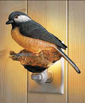 chickadee night light