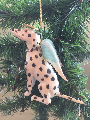 Dalmatian Angel Dog Ornament