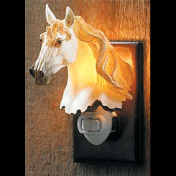 dapple grey horse night light