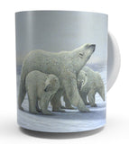 """ FAMILY TIES"" POLAR BEAR COFFEE MUG-Art by Shane Lamb"