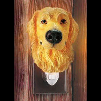 golden retriever night light