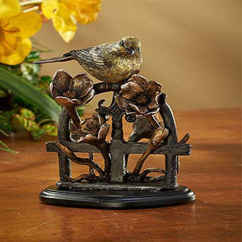 Goldfinch Bronze Patina Sculpture