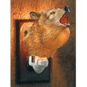 Growling Wolf Night Light