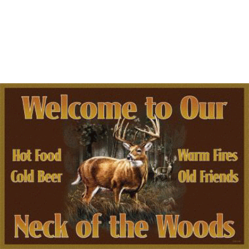 neck of the woods whitetail deer door mat