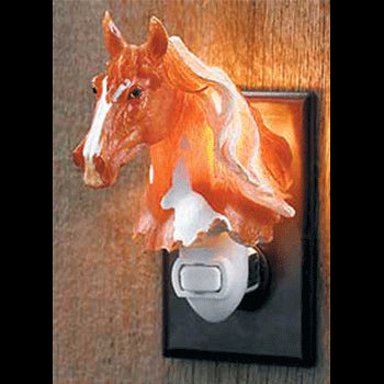 pinto horse night light