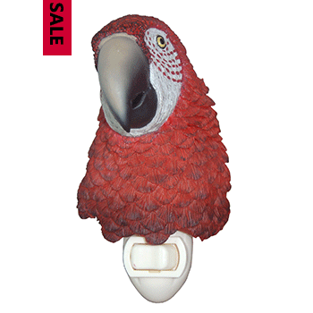 red parrot bust night light