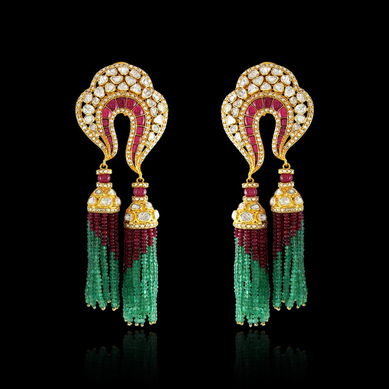 Ruby-Emerald Tassels