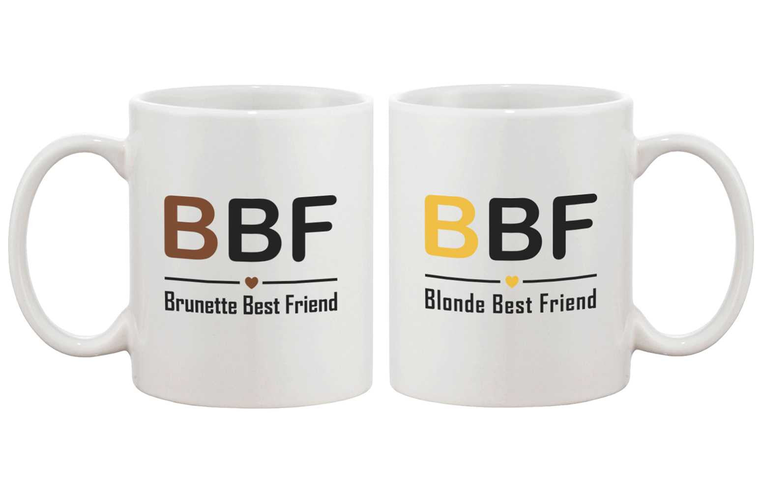 Cute Matching Coffee Mugs For Best Friends Brunette And Blonde Bff M 365 In Love Matching Gifts Ideas