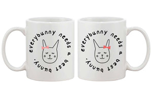 Cute BFF Coffee Mugs for Best Friends - Every Bunny Needs a Best Bunny Cup - 365INLOVE