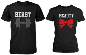 couple t shirts for work beauty and beast